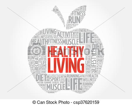 Energy clipart healthy living Clipart Healthy word of Living
