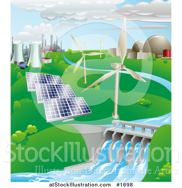 Energy clipart hydro energy Vector clipart Illustration power Water