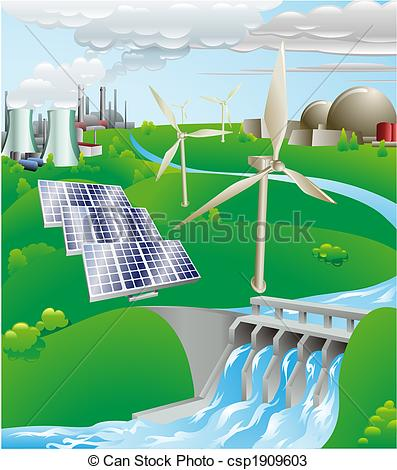 Turbine clipart power plant Electricity illustration generation power generation