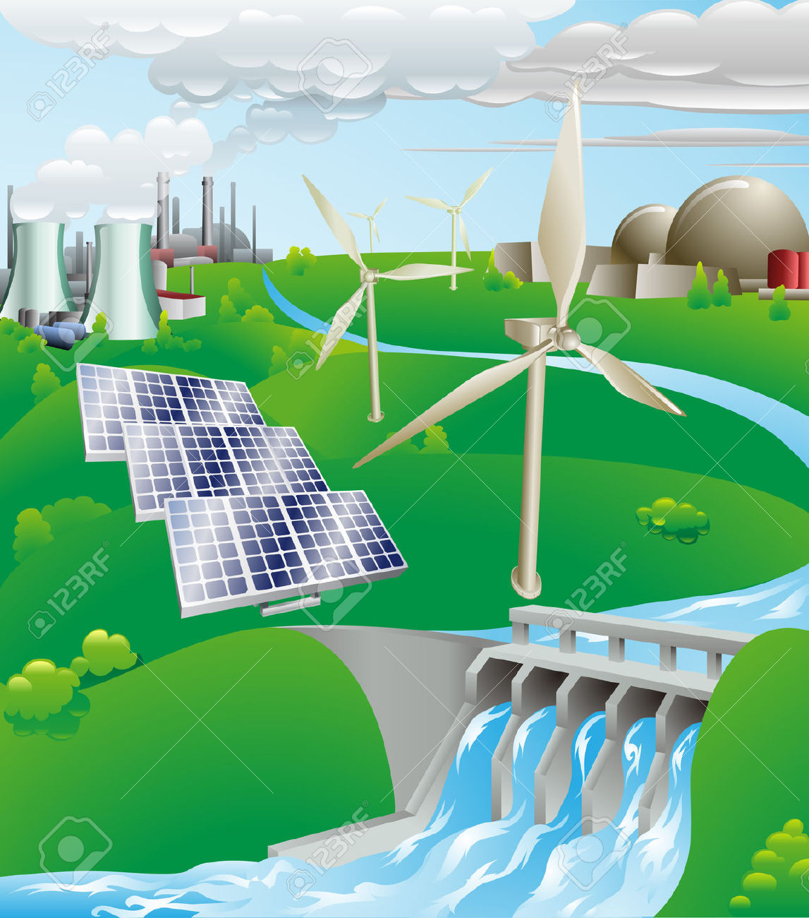 Wind Turbine clipart power plant #15