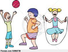 Energy clipart kid fitness Clip art doing kids active