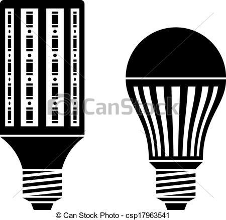 Bulb clipart led bulb Energy of  LED Vector