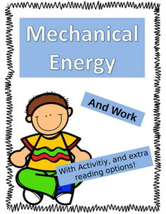 Panels clipart mechanical energy  Search Conservation of Work