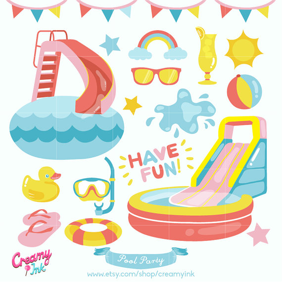 Fun clipart vector / Design Party Party Summer