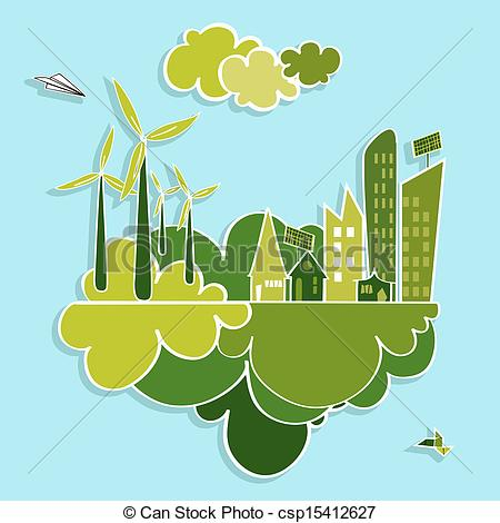 Energy clipart renewable resource City Green resources Illustration city