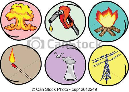 Energy clipart six Csp12612249 of Round on of