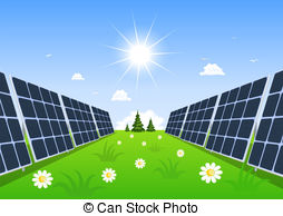 Panels clipart alternative energy System solar Illustration the green