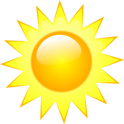 Heat clipart bright sun #3