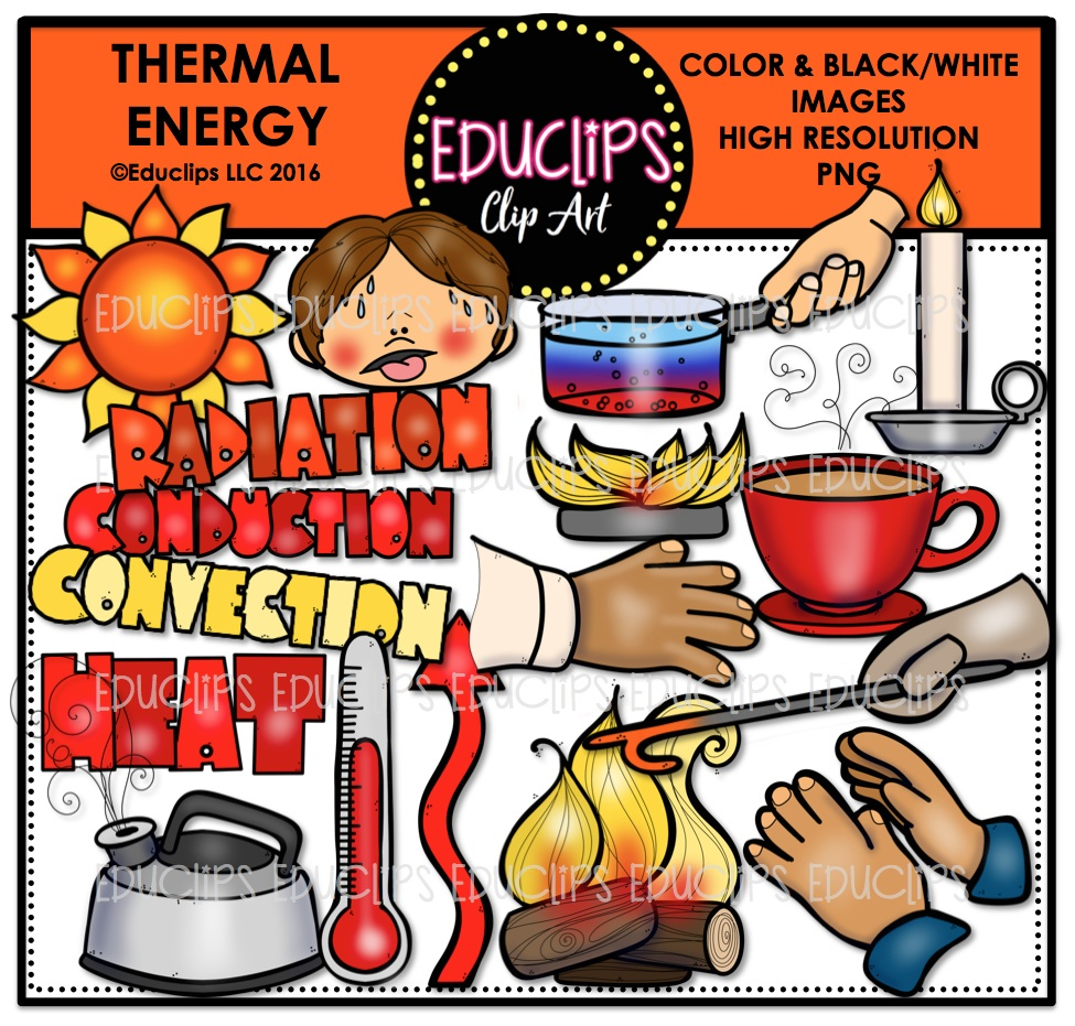 Heat clipart thermal energy #4
