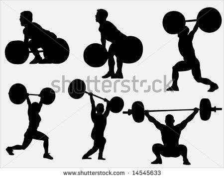 Olympic Games clipart lift weight #1