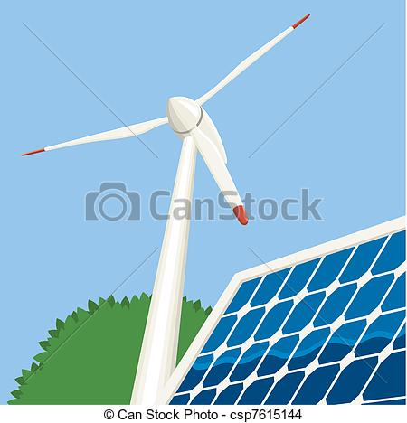 Wind Turbine clipart drawing Energy Vector Illustration a Vector