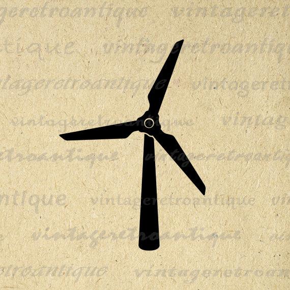 Turbine clipart wind power Clip Wind Digital Printable Energy
