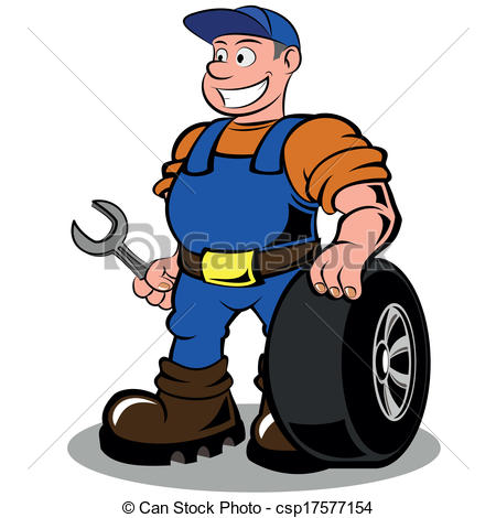 Engine clipart auto mechanic With auto illustration of wheel