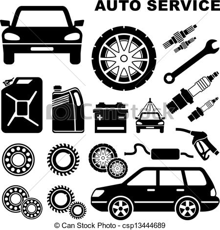 Engine clipart auto mechanic Repair  repair csp13444689 Vector
