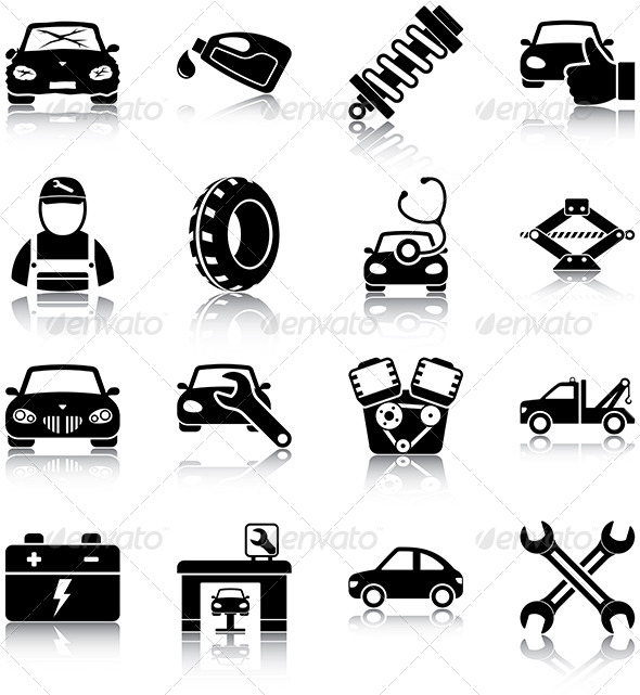 Engine clipart auto repair shop Files Mechanic Icon Auto Icons