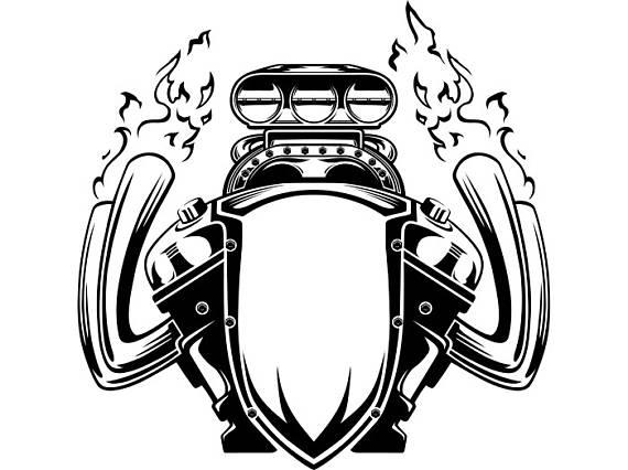 Engine clipart bike Biker Engine Motorcycle Car Flames