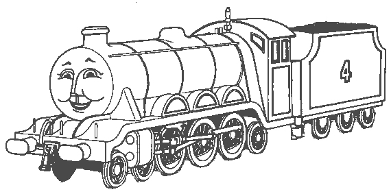 Steam clipart thomas the train  Black The White Black