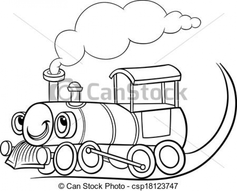 Locomotive clipart black and white Clip white clipart and train