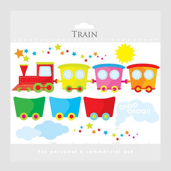 Train clipart cute #10