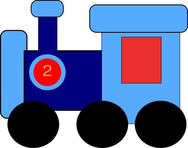 Train clipart number train #5