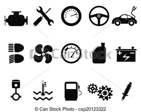 Engine clipart car engine Of car set of Clip