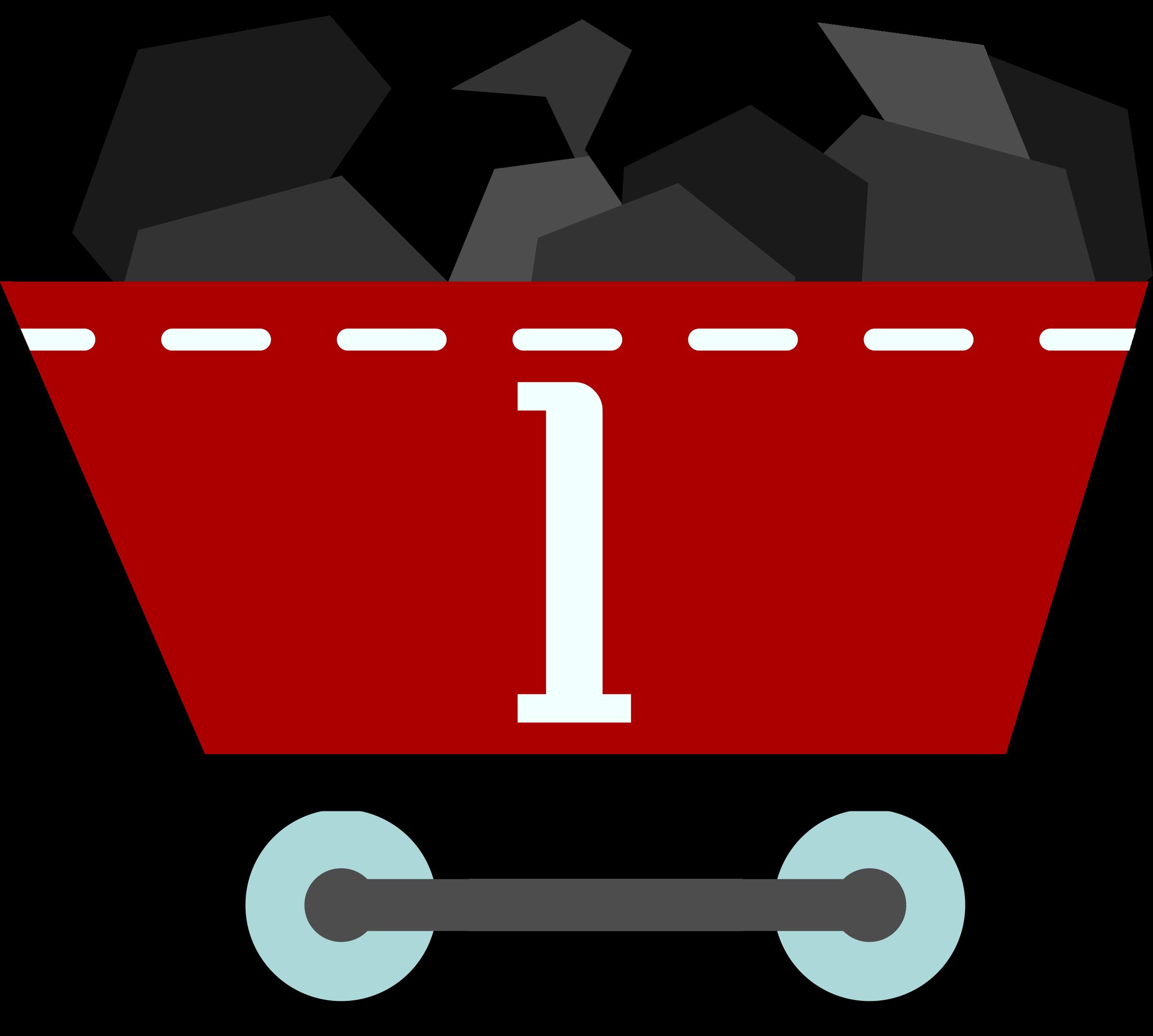 Minecraft clipart coal cart #2
