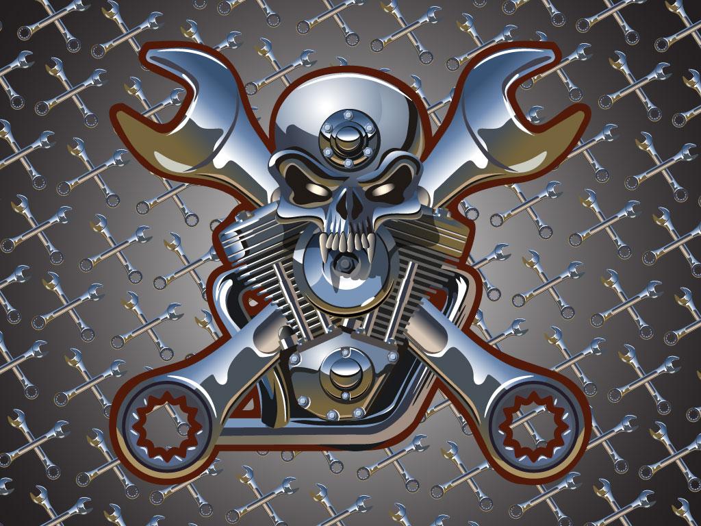 Engine clipart crossed Skull top Artwork  Artwork