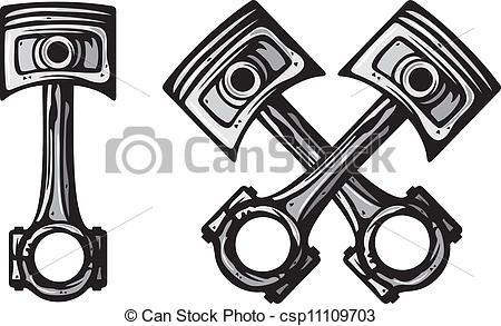 Engine clipart crossed Crossed pistons crossed engine pistons