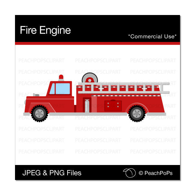 Fire Truck clipart commercial Fire clipart clip cute engine
