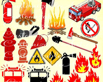 Fire Truck clipart digital Fire Clip Clipart truck clipart