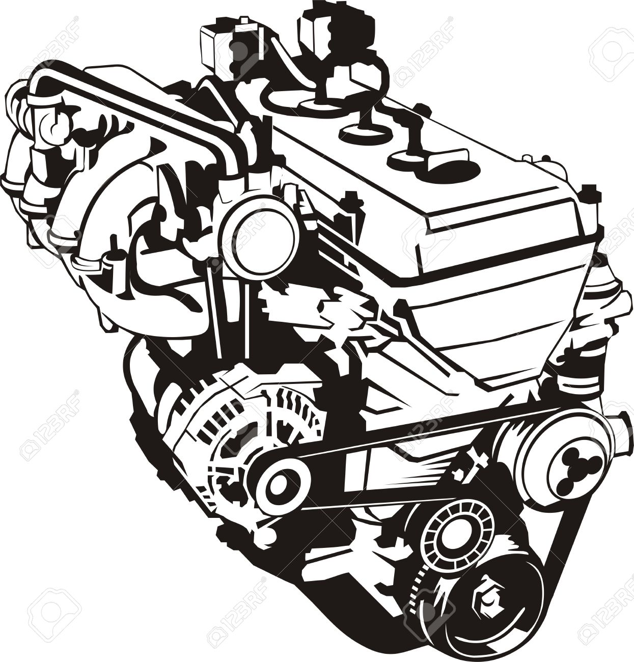 Engine clipart diesel engine Clipart engine Internal combustion engine