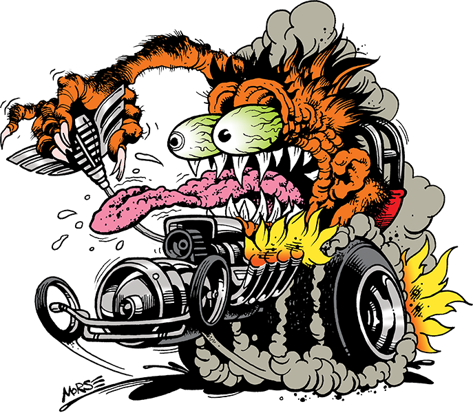 Engine clipart drag race Front early Custom  dragster