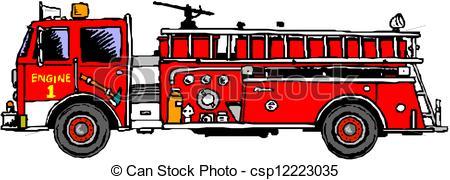 Engine clipart drawing Art Fire Truck 716 clip
