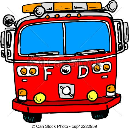 Engine clipart drawing  of csp12222959 Fire Fire
