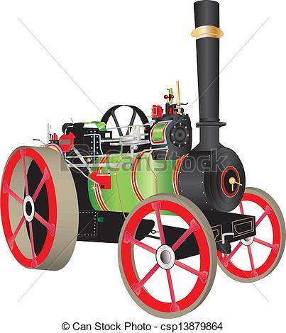 Engine clipart drawing  Red Vector Engine Traction
