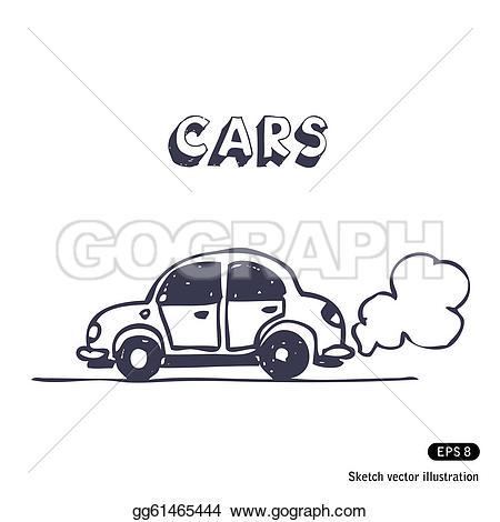 Blue Car clipart car exhaust Car exhaust Cartoon Art GoGraph