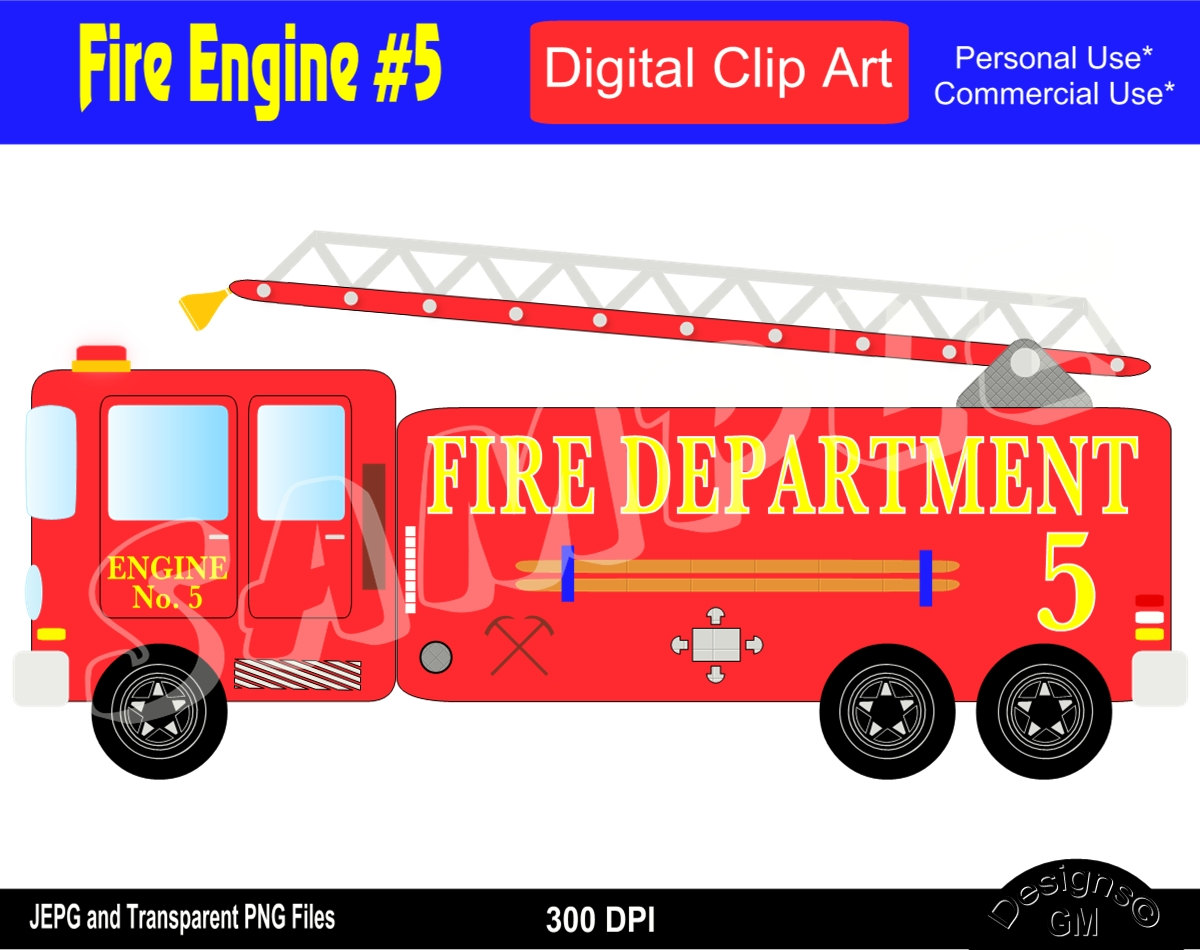 Fire Truck clipart commercial Clipart Truck truck Truck Engine