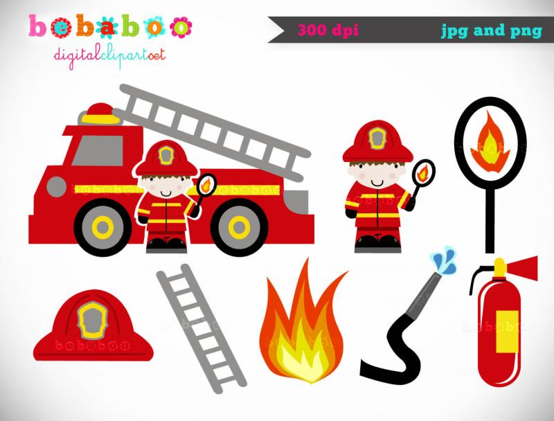 Fire Truck clipart printable #1