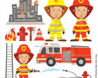 Fire Truck clipart firefighter tool Axe Rescue Truck Commercial Art
