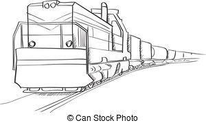 Railways clipart cargo train #5