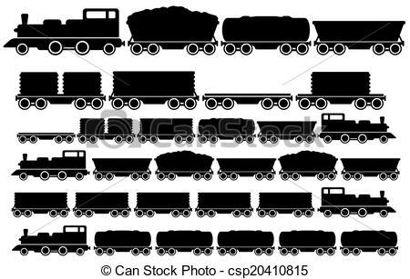 Railways clipart cargo train #2
