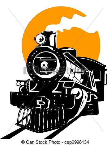 Steam clipart train engine Illustration csp0998134 train of travel