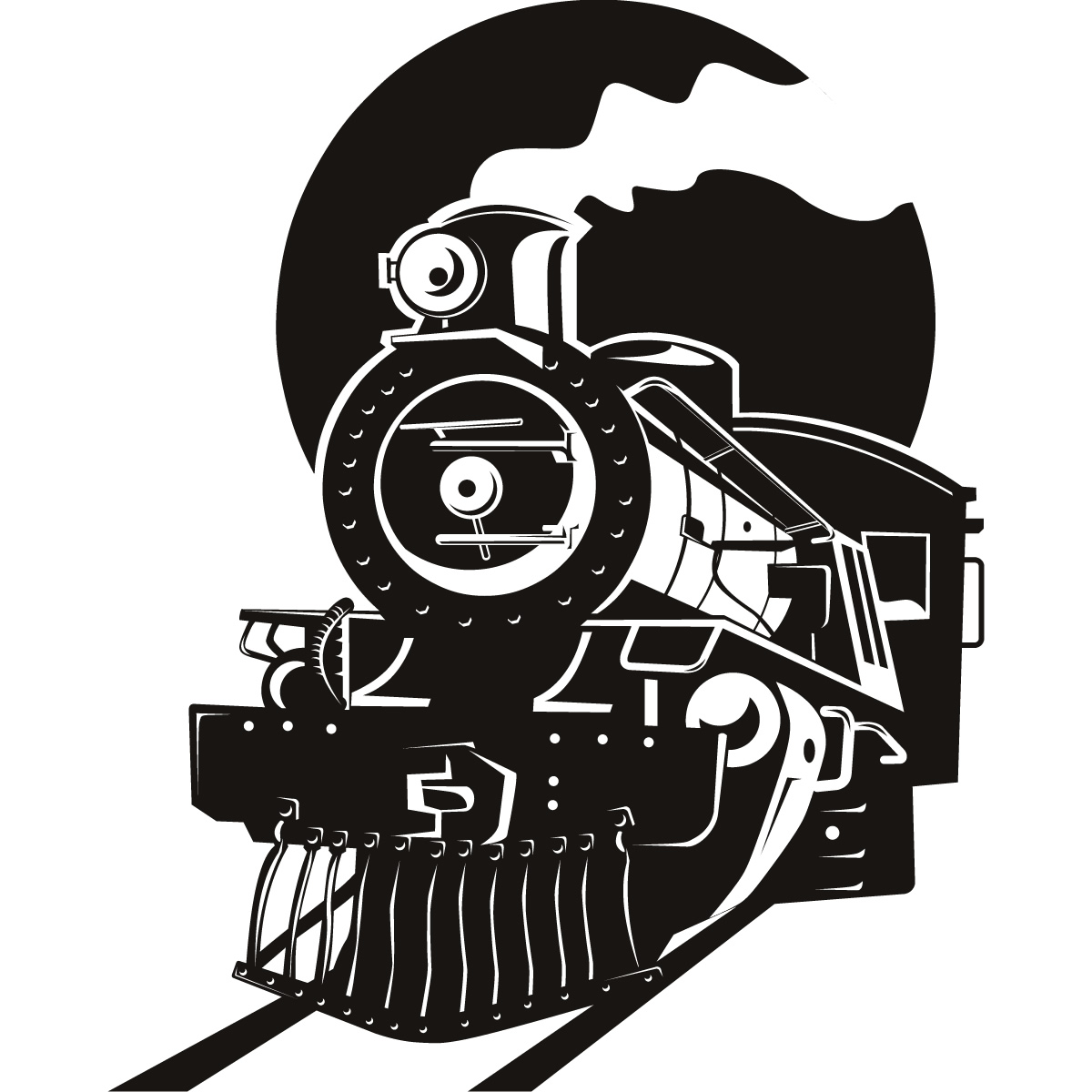 Steam clipart steam locomotive Silhouette locomotive locomotive Locomotive Silhouette
