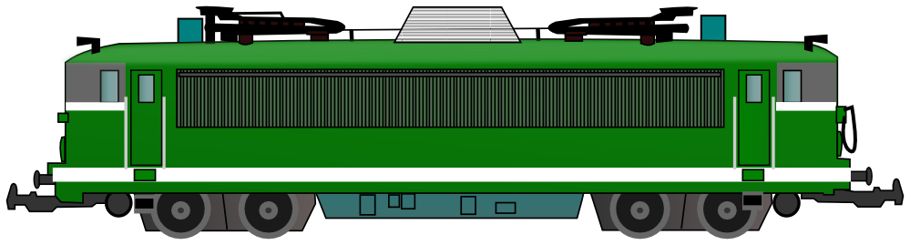 Engine clipart green train Old Clip Public Domain &
