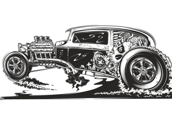 Engine clipart hot rod By Check on Rod by