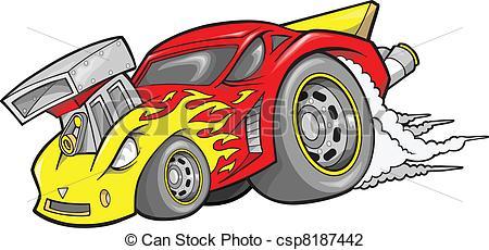 Engine clipart hot rod Art Rod Car csp8187442 Vector