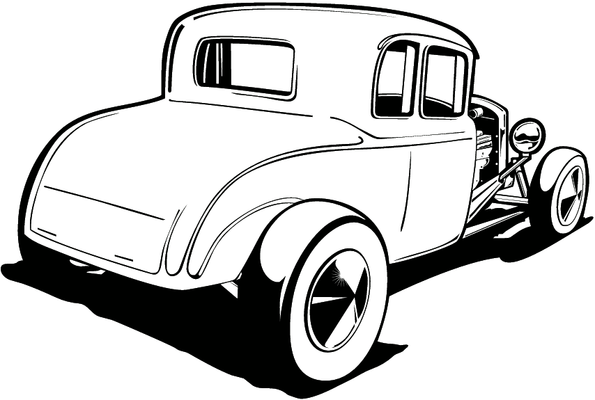 Engine clipart hot rod Classic clipart Clipart rod Black