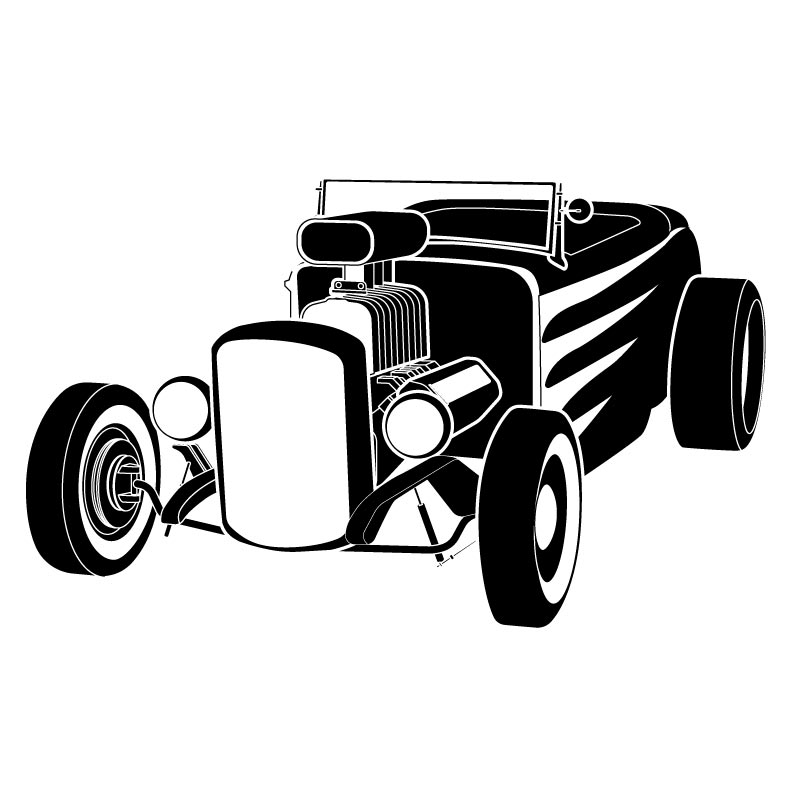 Engine clipart hot rod Black rods  clipart street