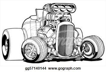 Engine clipart hot rod Clip Illustration Gg57140144 Deuce Rod