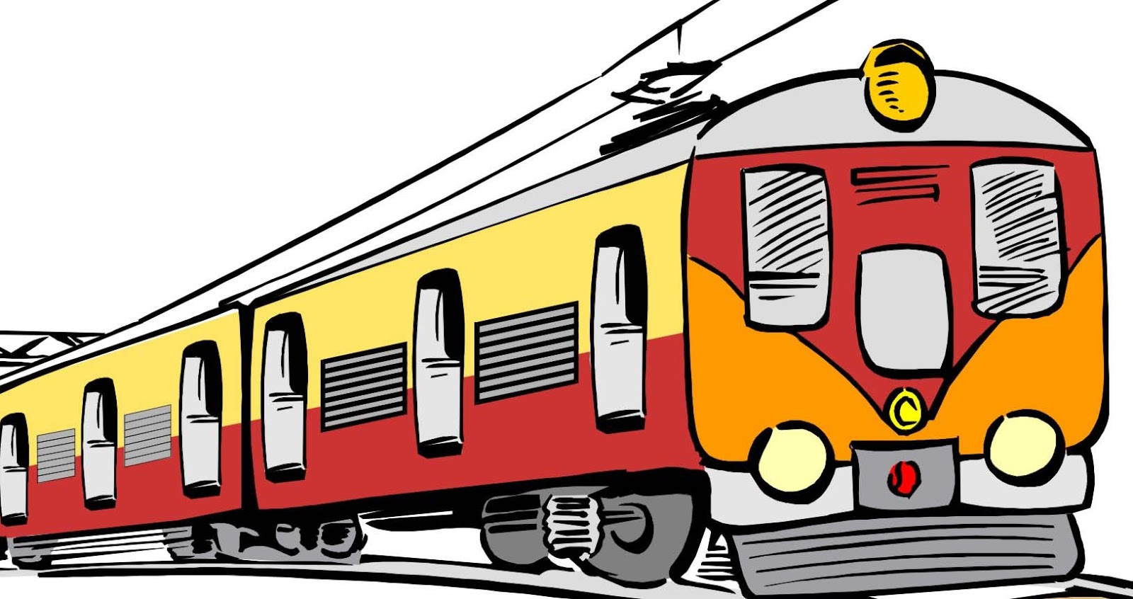 Railways clipart cartoon #1
